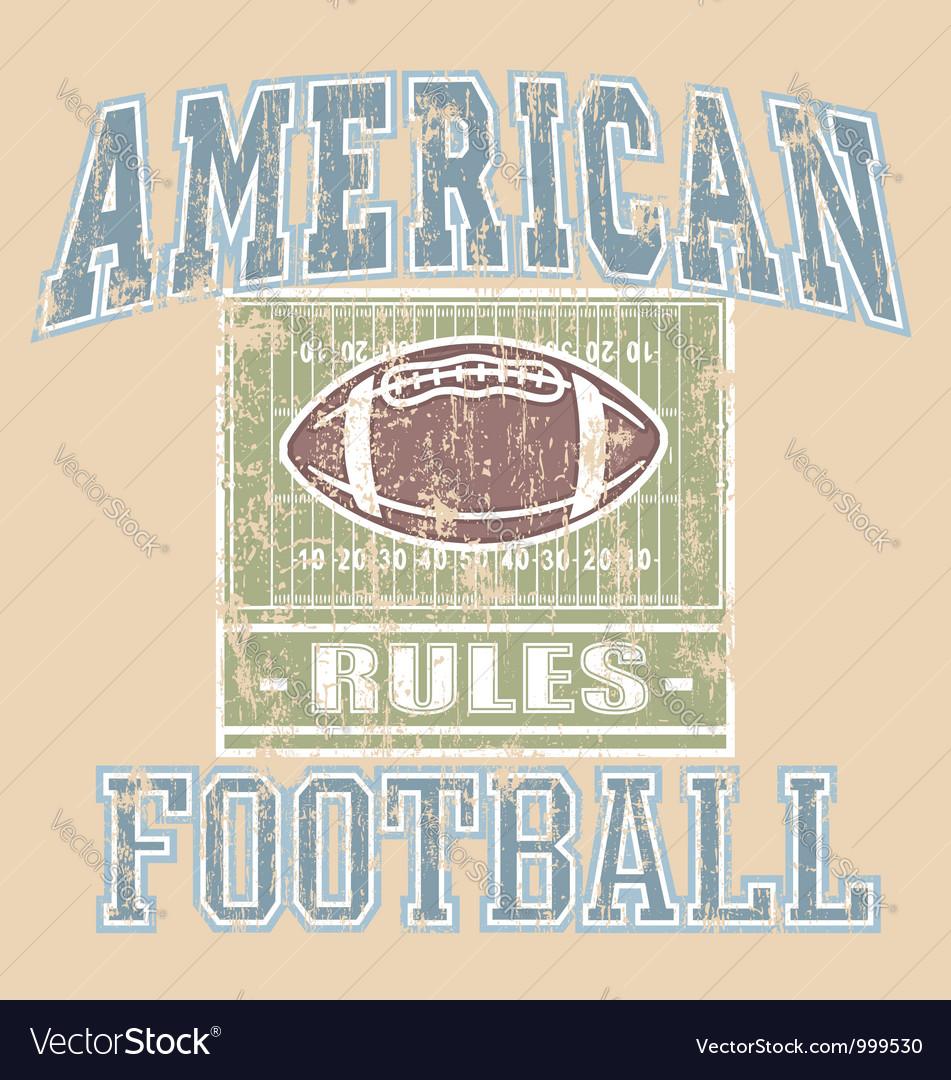 American FOOTBALL Rule