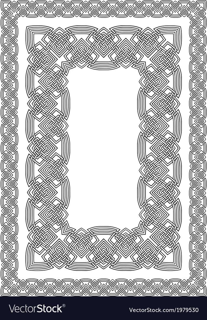 celtic border royalty free vector image vectorstock rh vectorstock com celtic vector border designs celtic circle border vector
