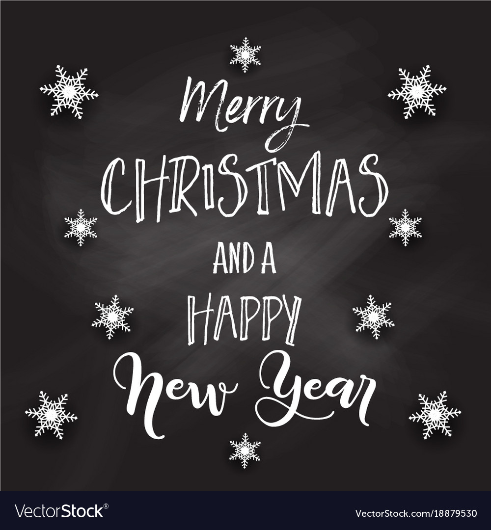 Christmas Chalkboard.Christmas Chalkboard With Decorative Text