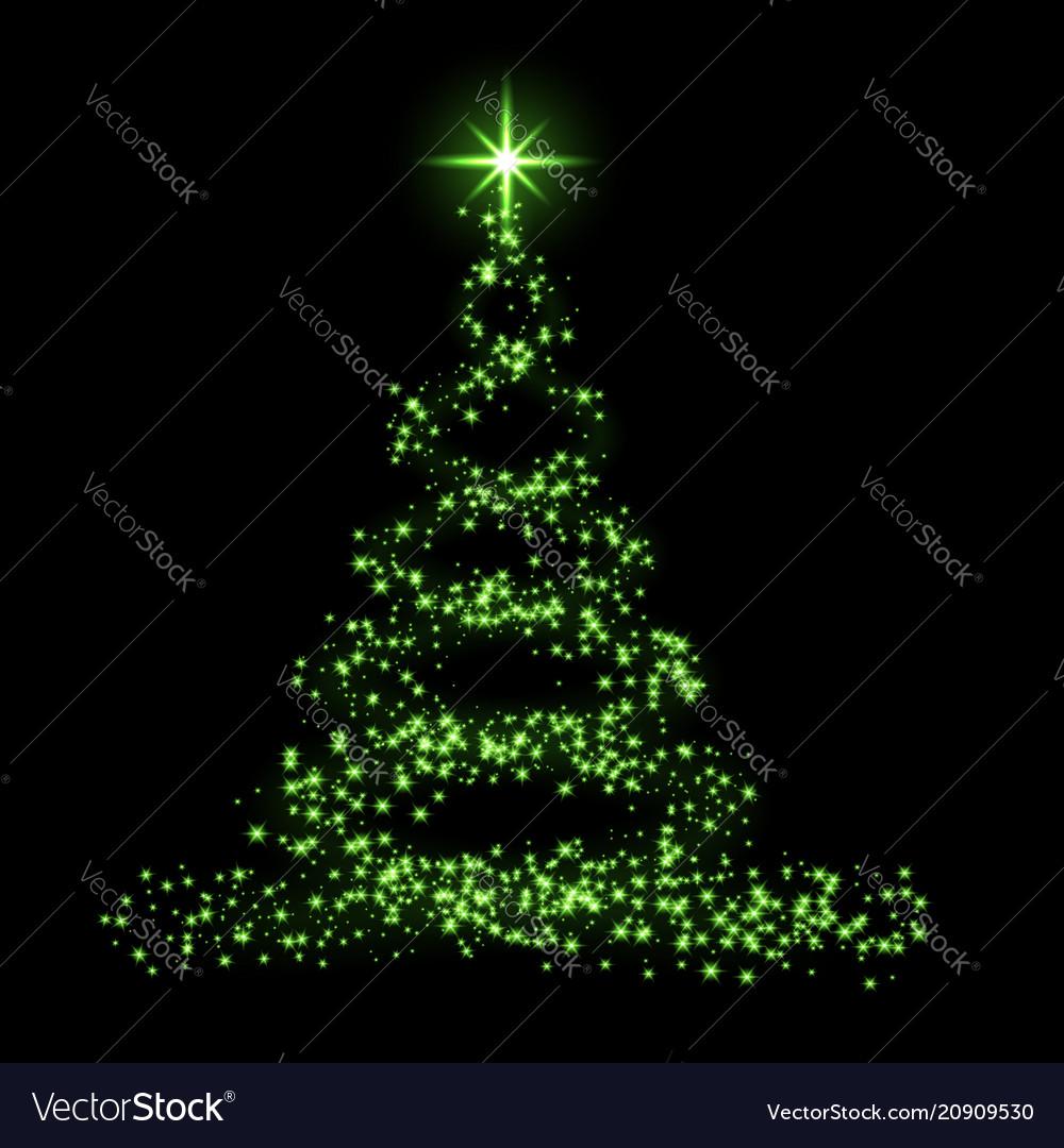 Christmas tree card background green christmas