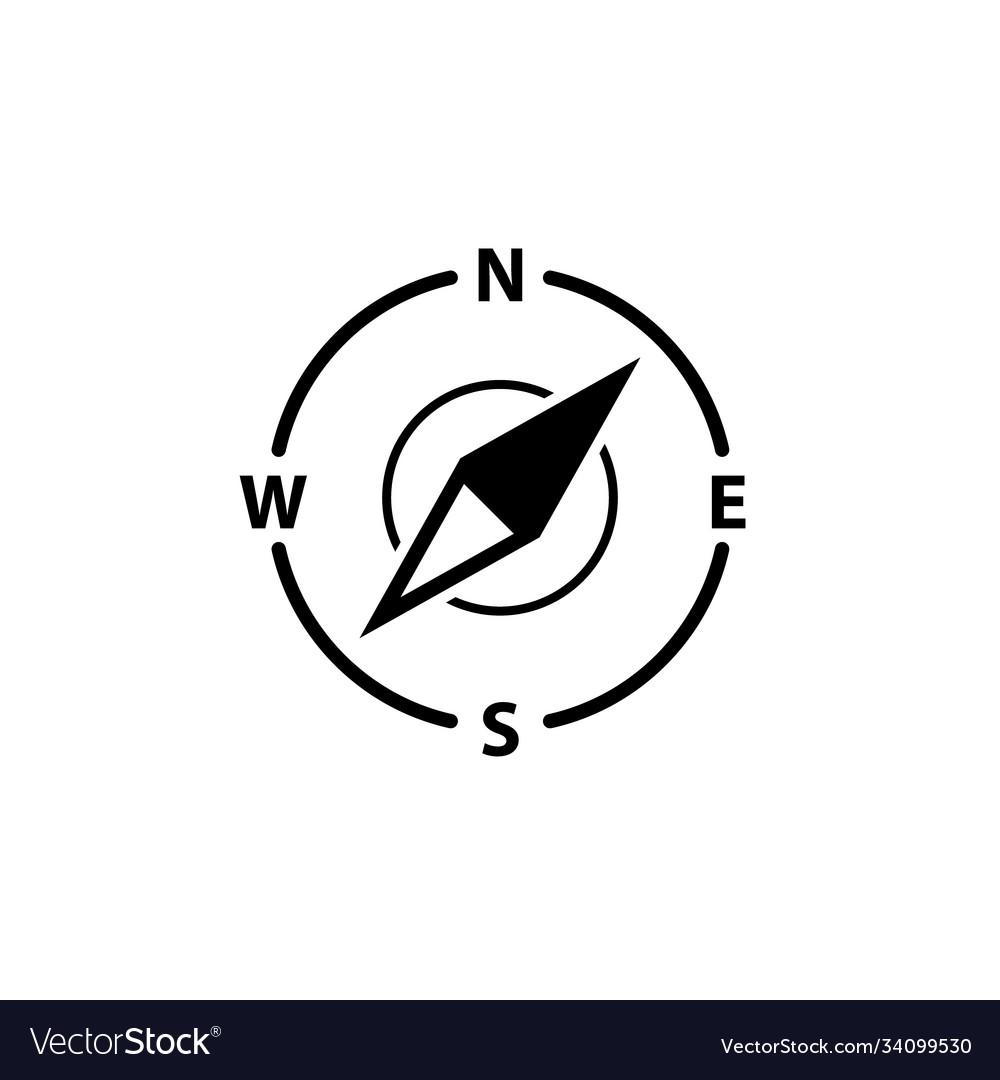 Compass logo icon north arrow orienteering