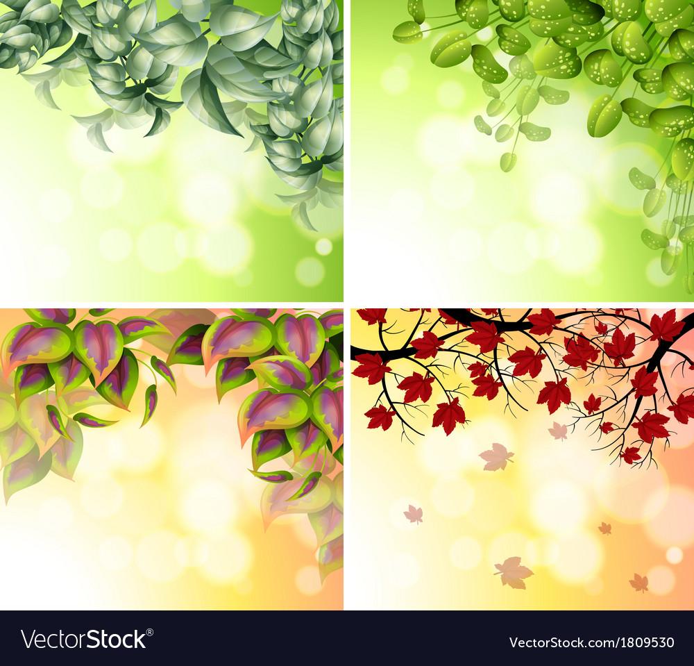 Four border designs vector image