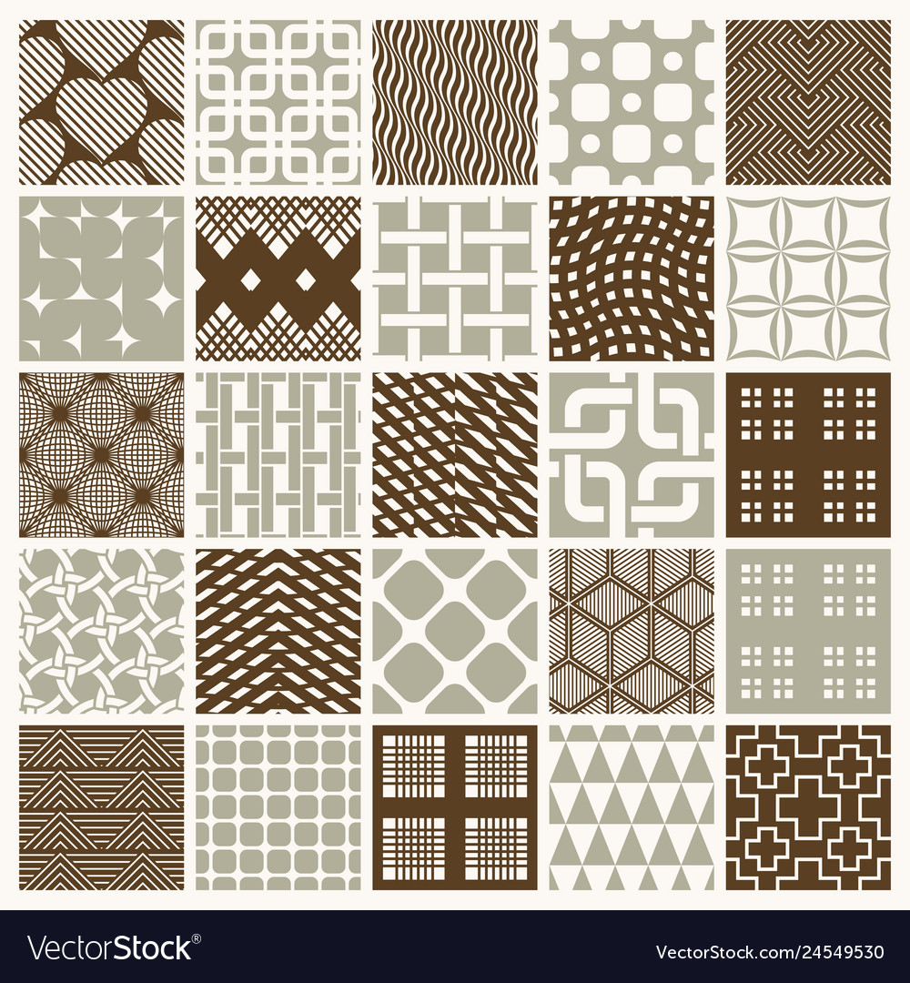 Graphic vintage textures created with squares