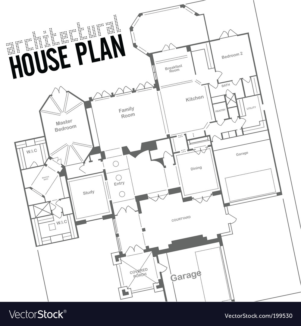 House plan Royalty Free Vector Image