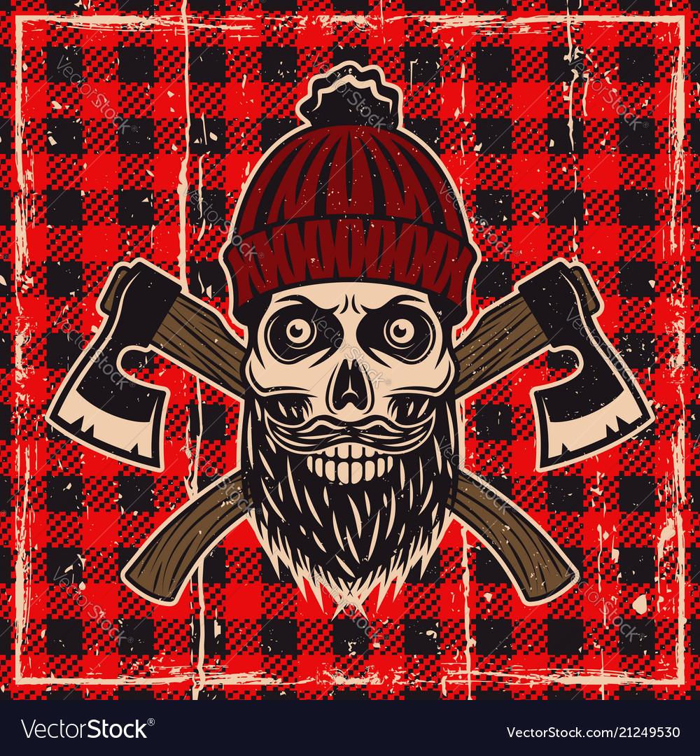 Lumberjack bearded skull color