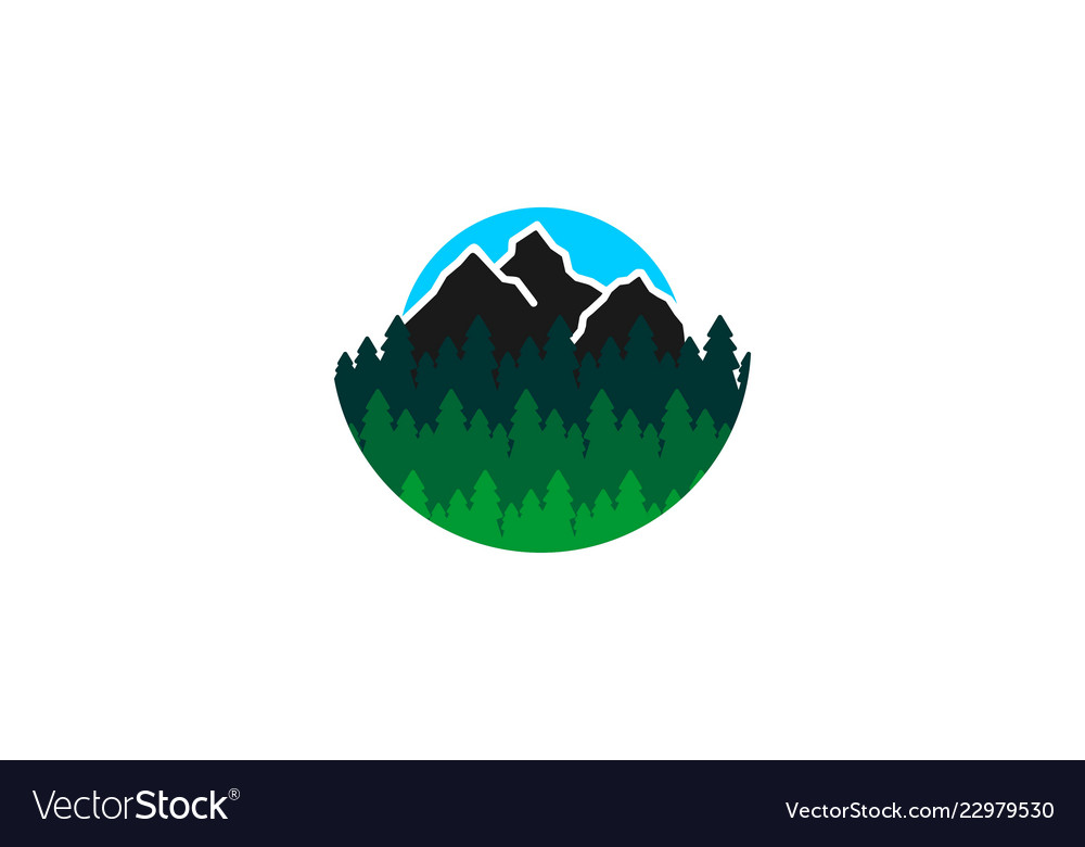 Mountain fir logo designs inspiration isolated on