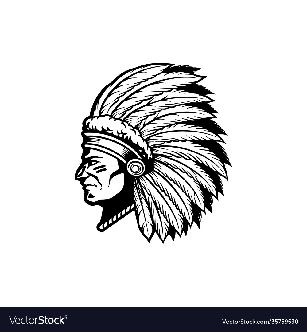 Silhouette indian apache clipart