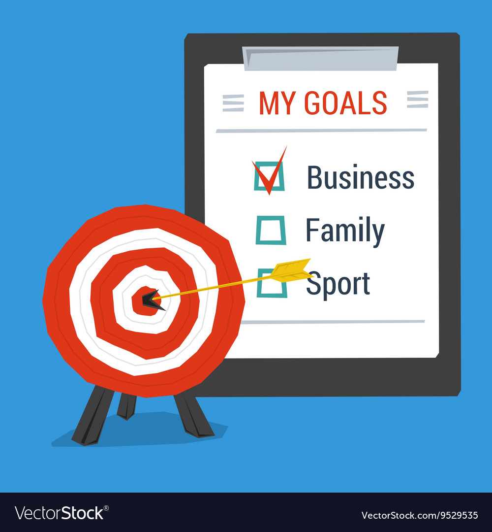 Business concept personal goals vector image