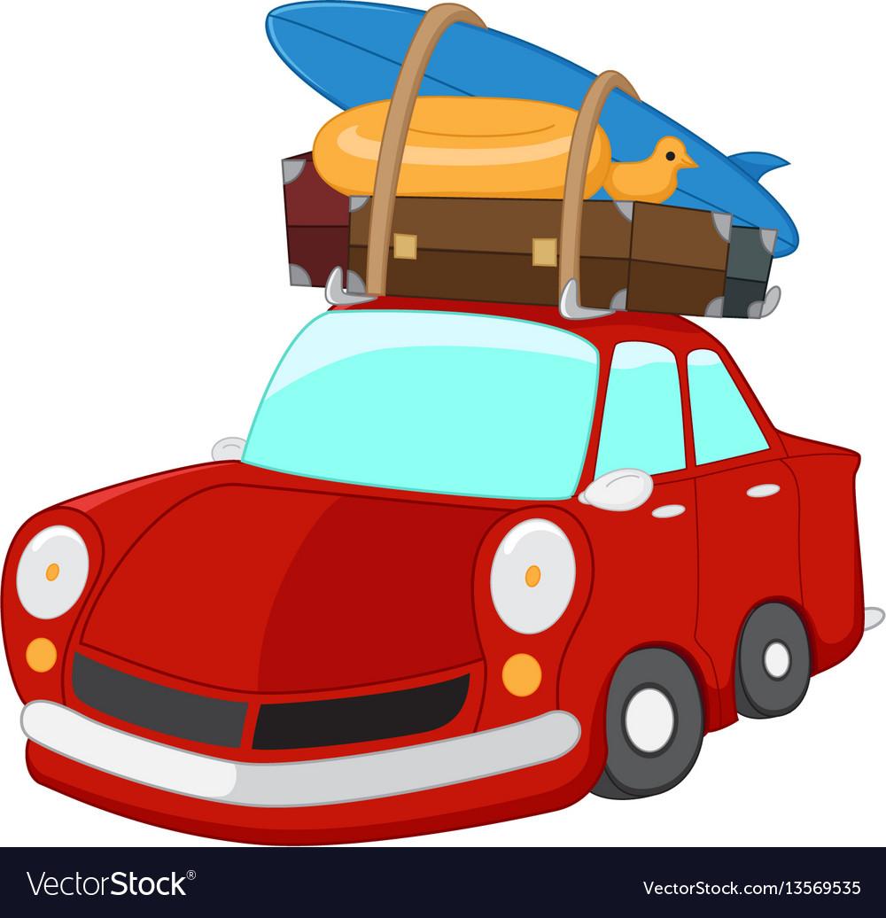 Cartoon travelling car