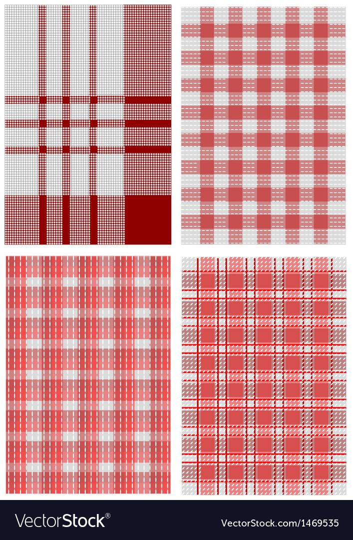 Checkered tablecloths