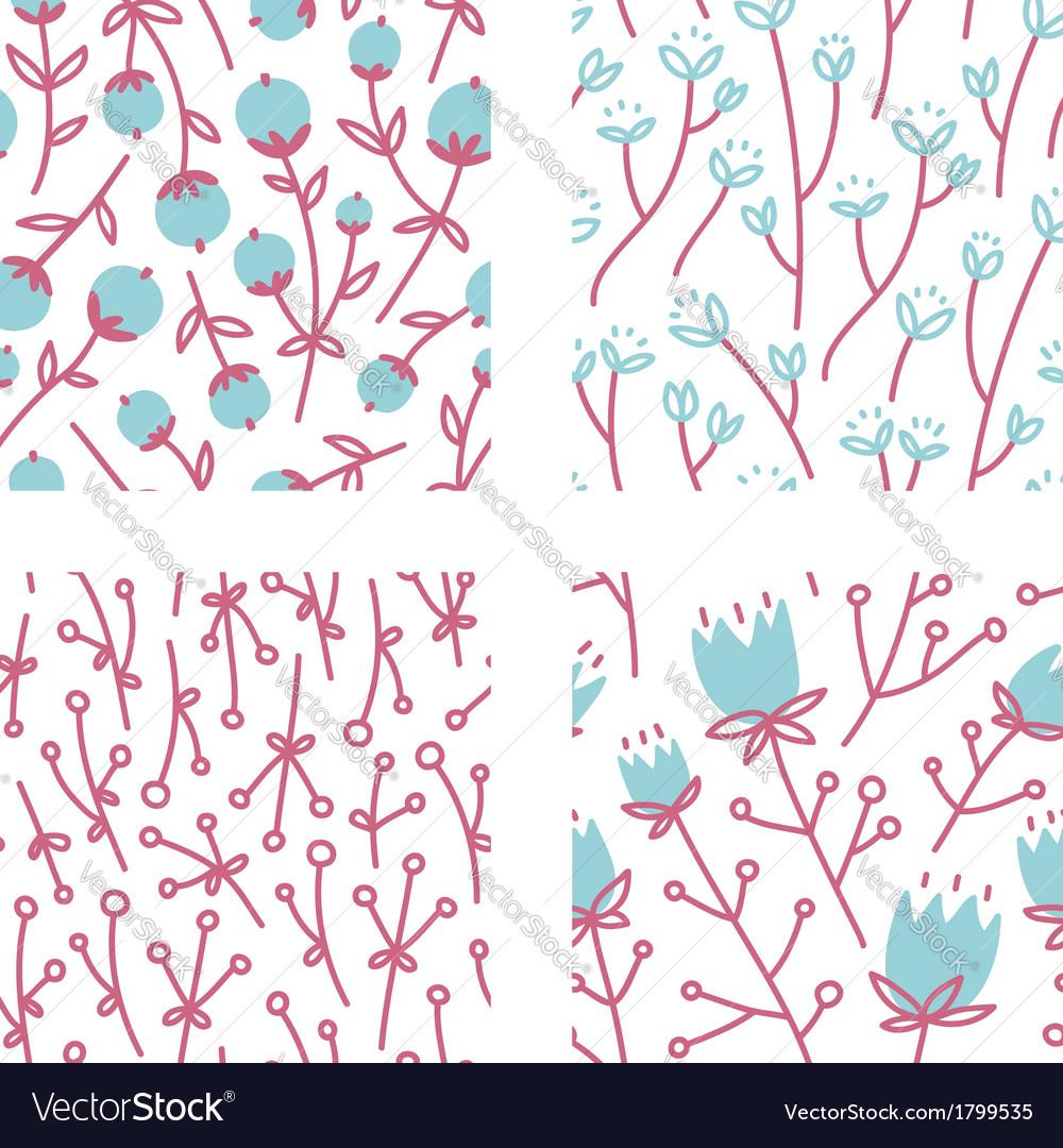 Floral patterns set 1