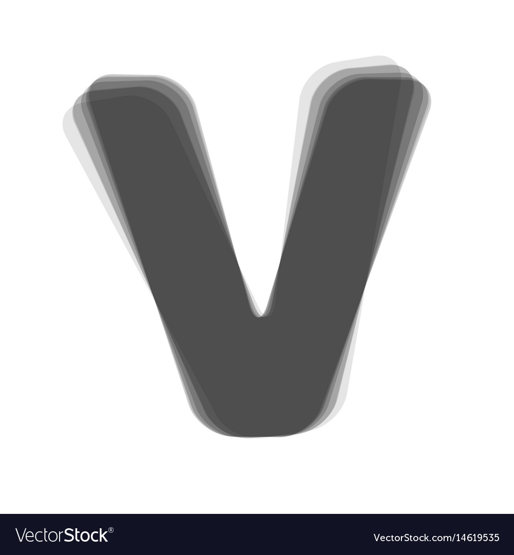 Letter v sign design template element vector image