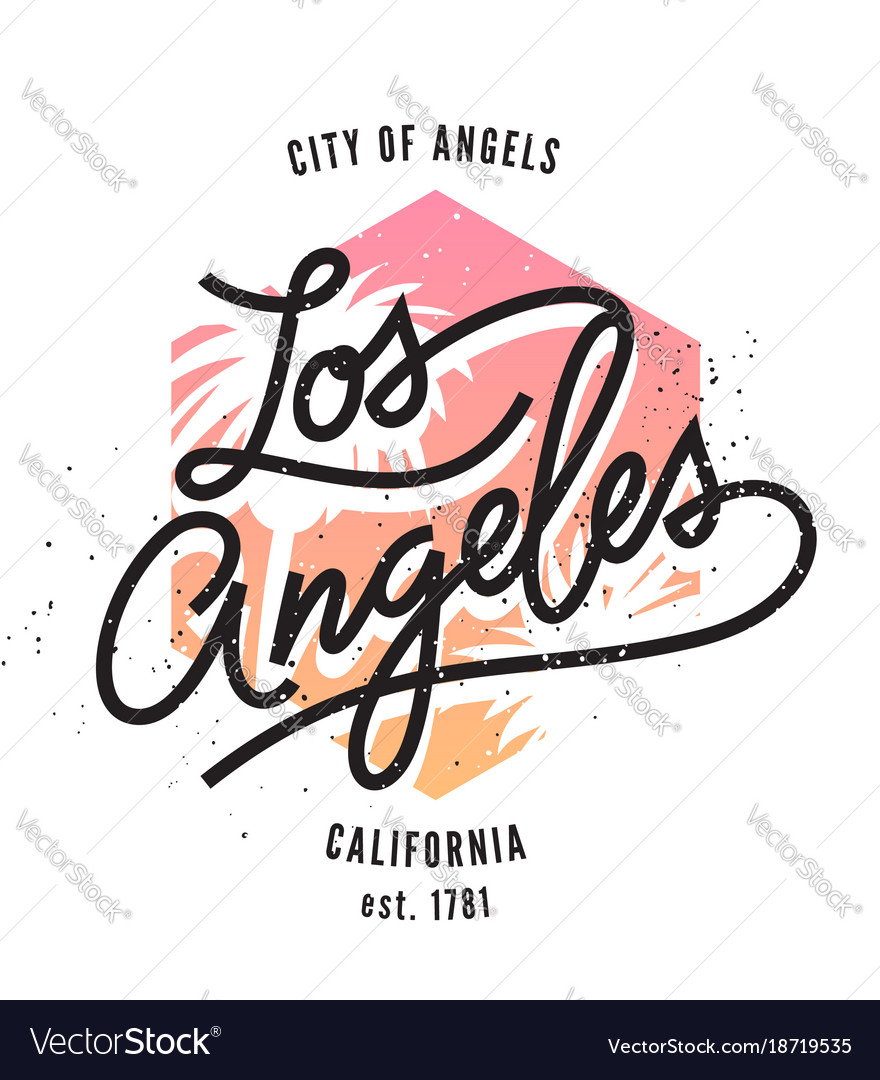 Los angeles typographic print