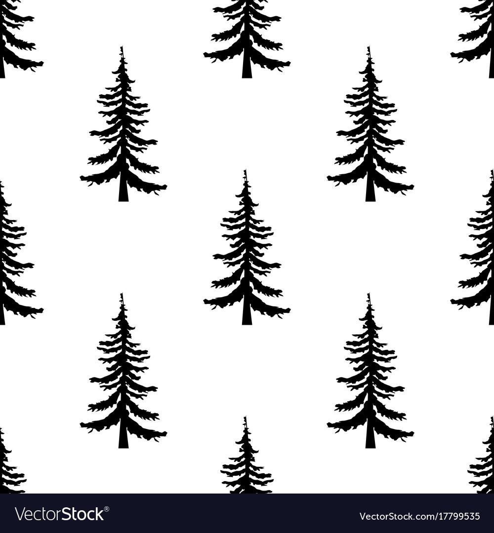 Christmas Tree Pattern.Pine Tree Pattern Simple Of Pine