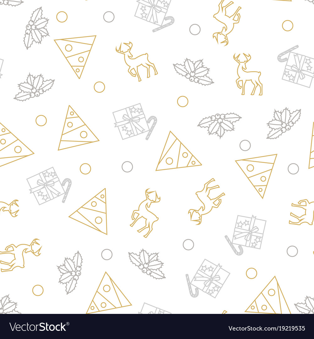 Seamless pattern of christmas decoration in