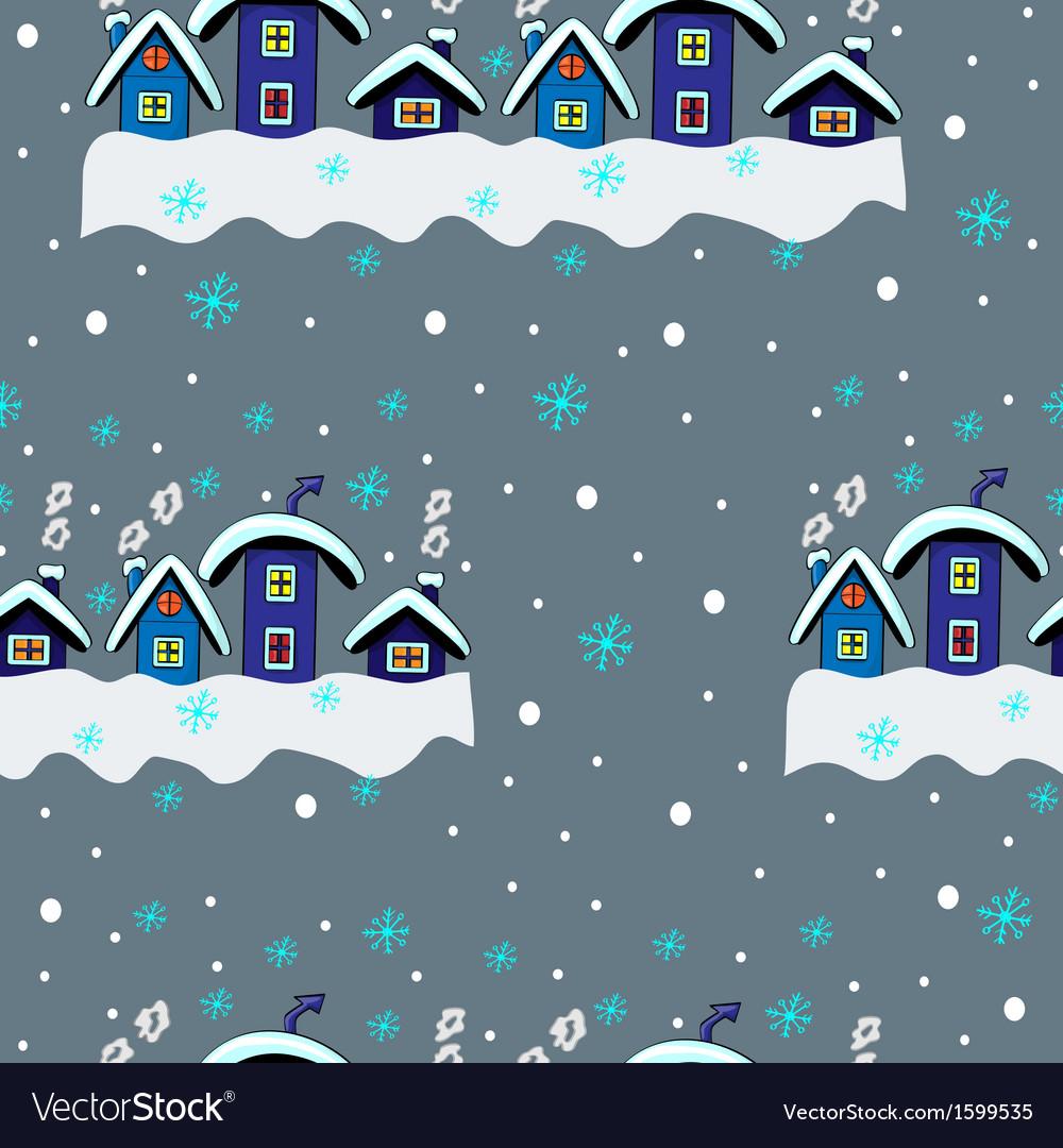 Winter Seamless Houses