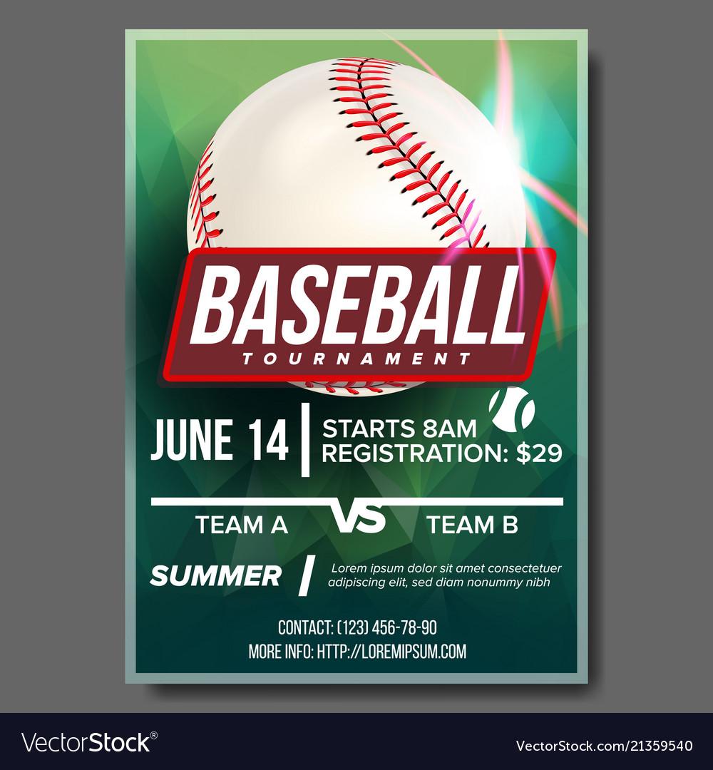 Baseball poster banner advertising base