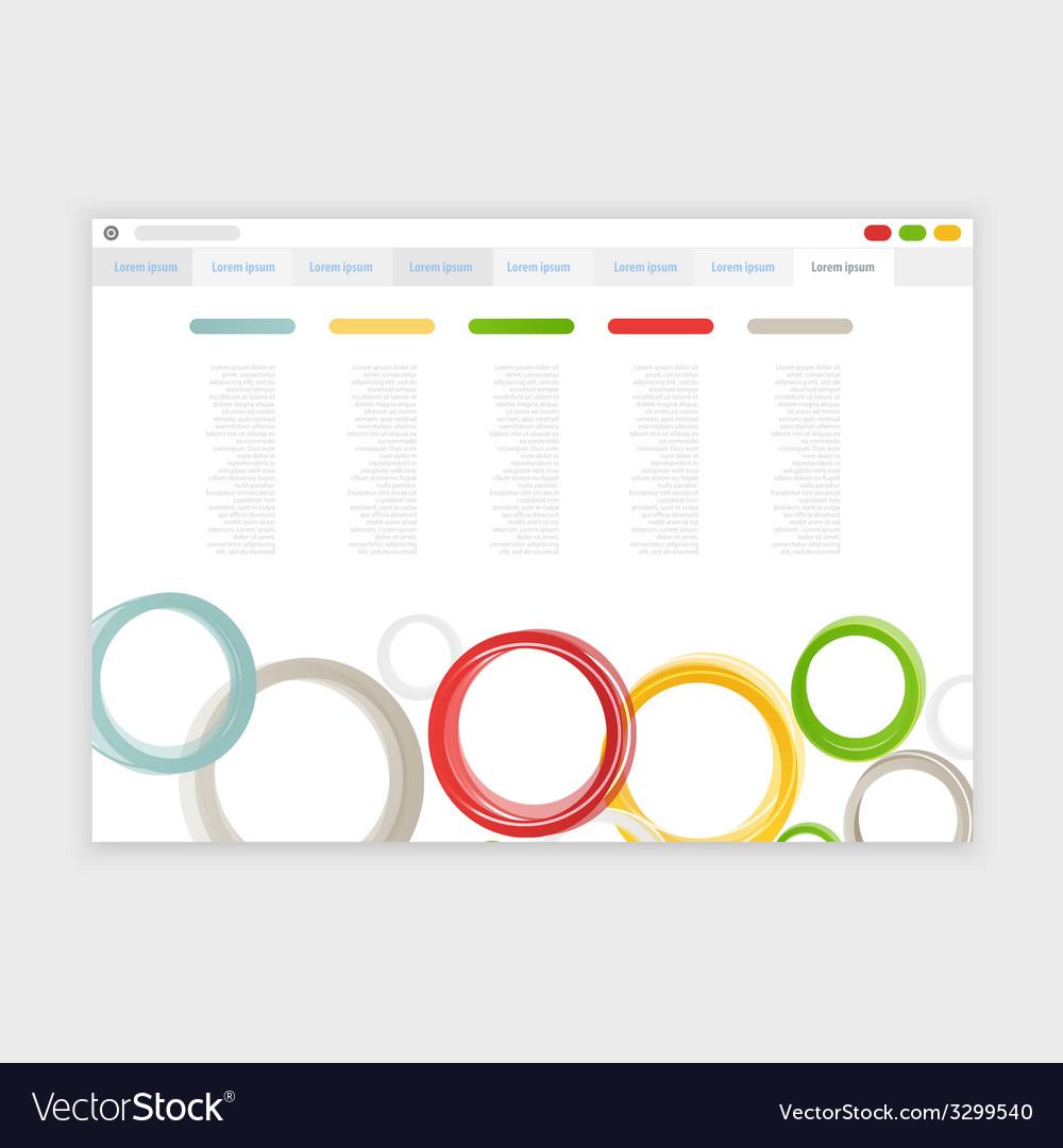 Browser design with responsive website