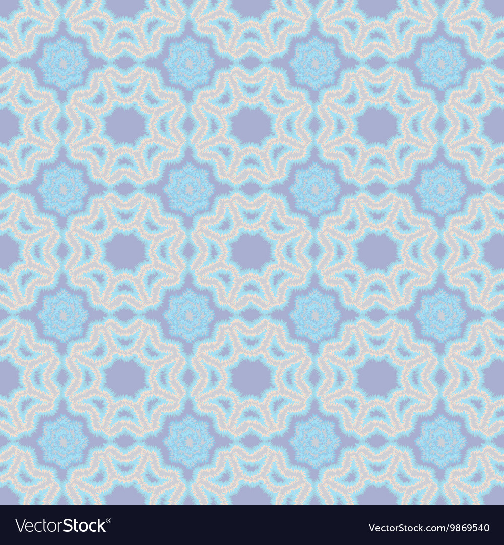 Flowers and geometric patterns seamless