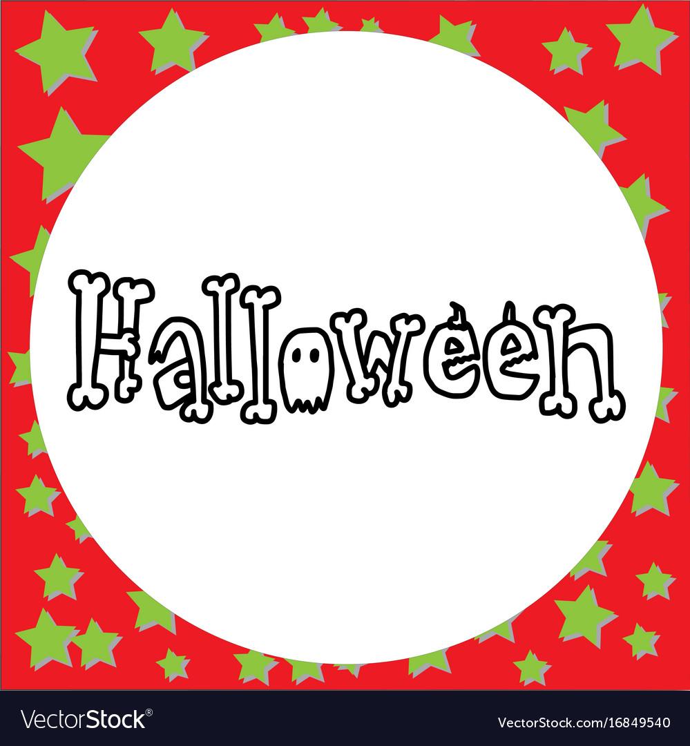 Hand drawn doodle halloween vector image