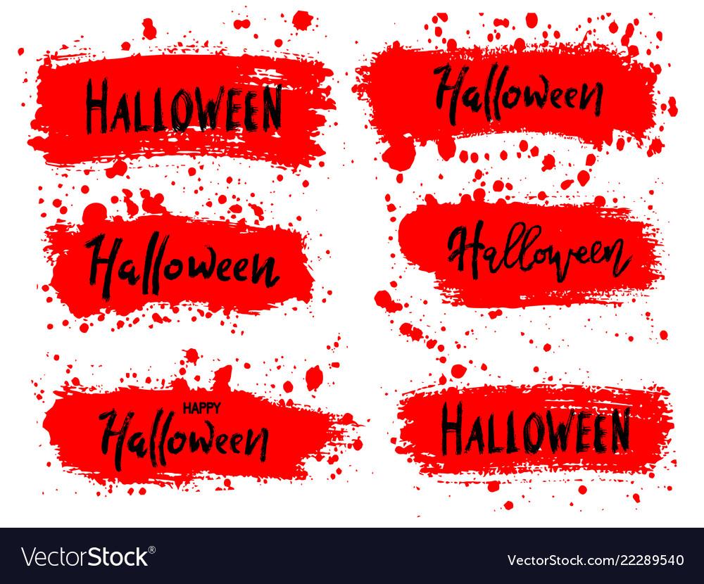 Happy halloween lettering on black splash