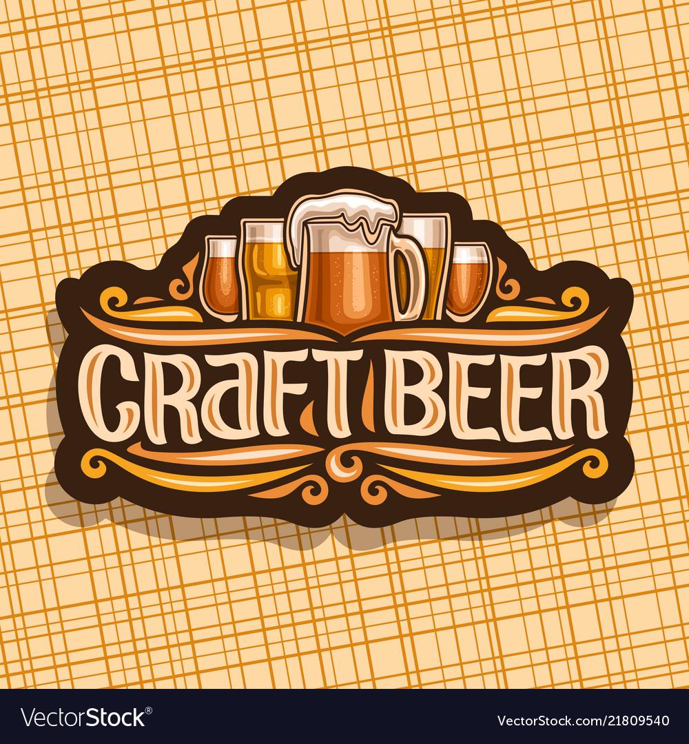 Logo for craft beer