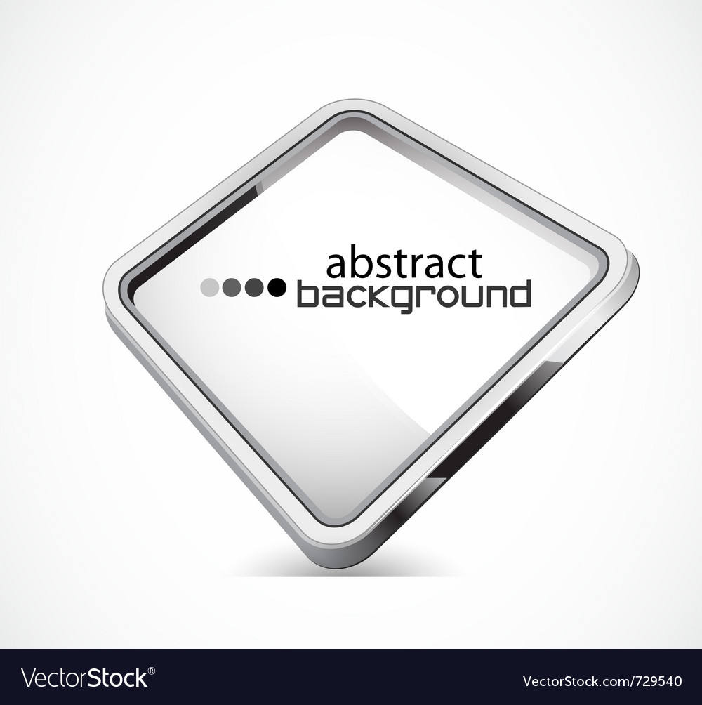 Metal plate with copy space vector image