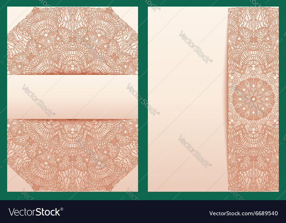 Set of tribal template for design invitations or