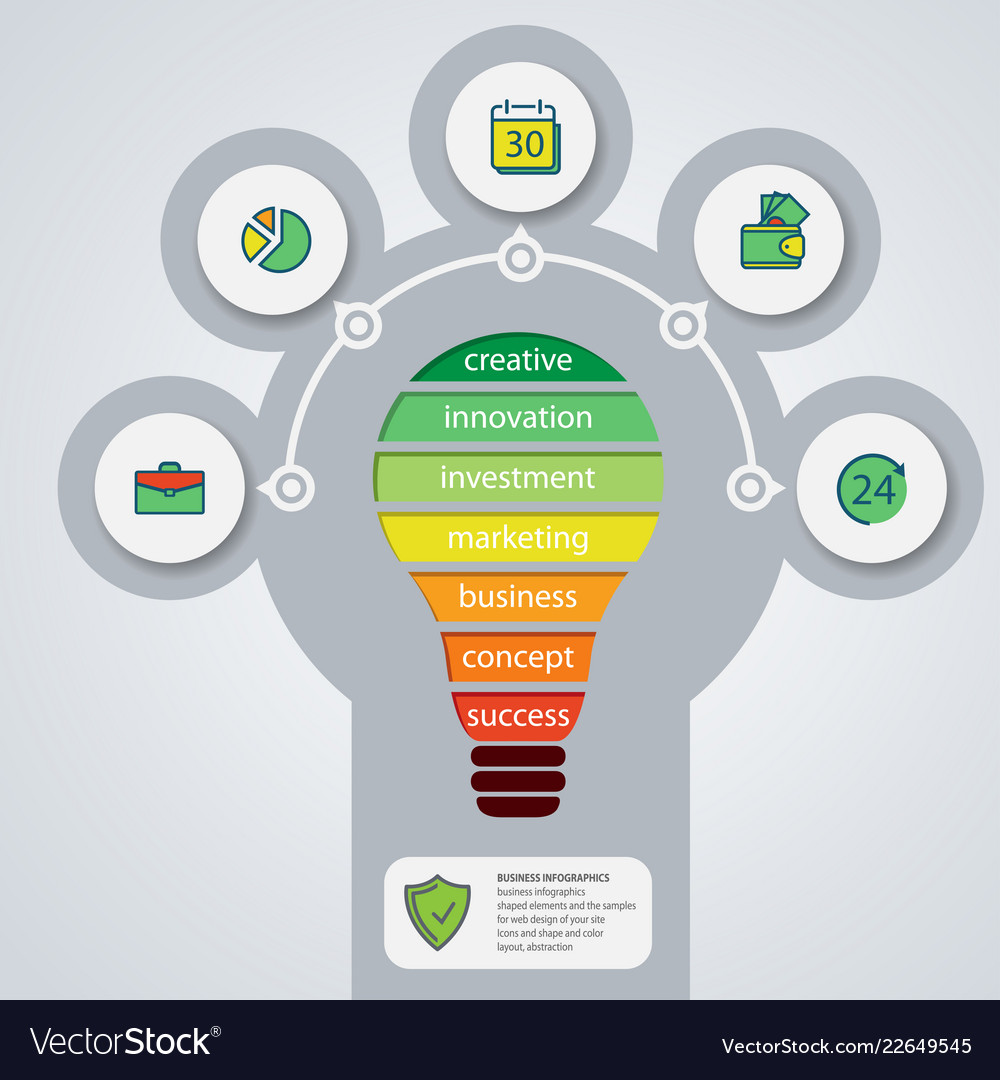 Annual report business bulb infographics