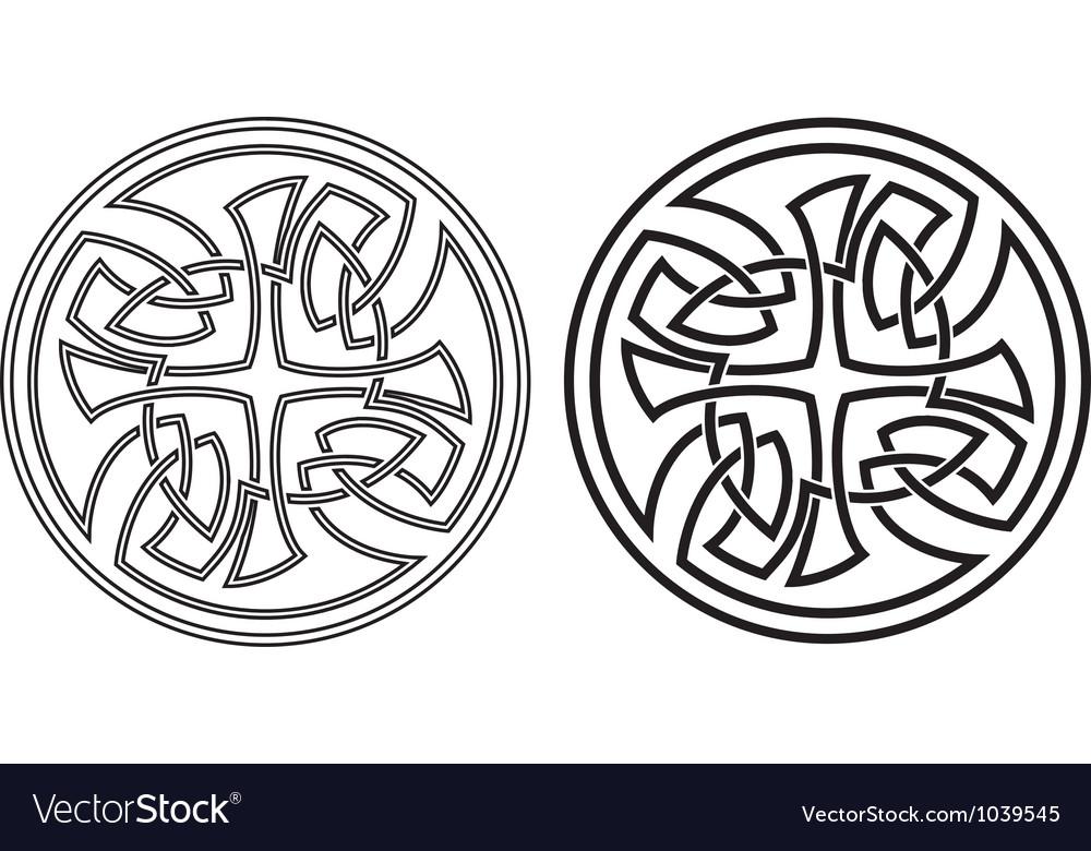 Celtic round ornament Set vector image