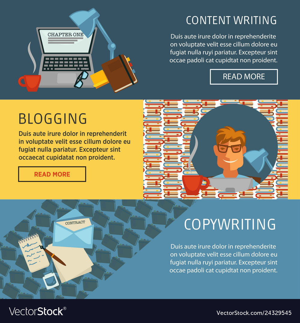 Content writing blogging and copywriting web page
