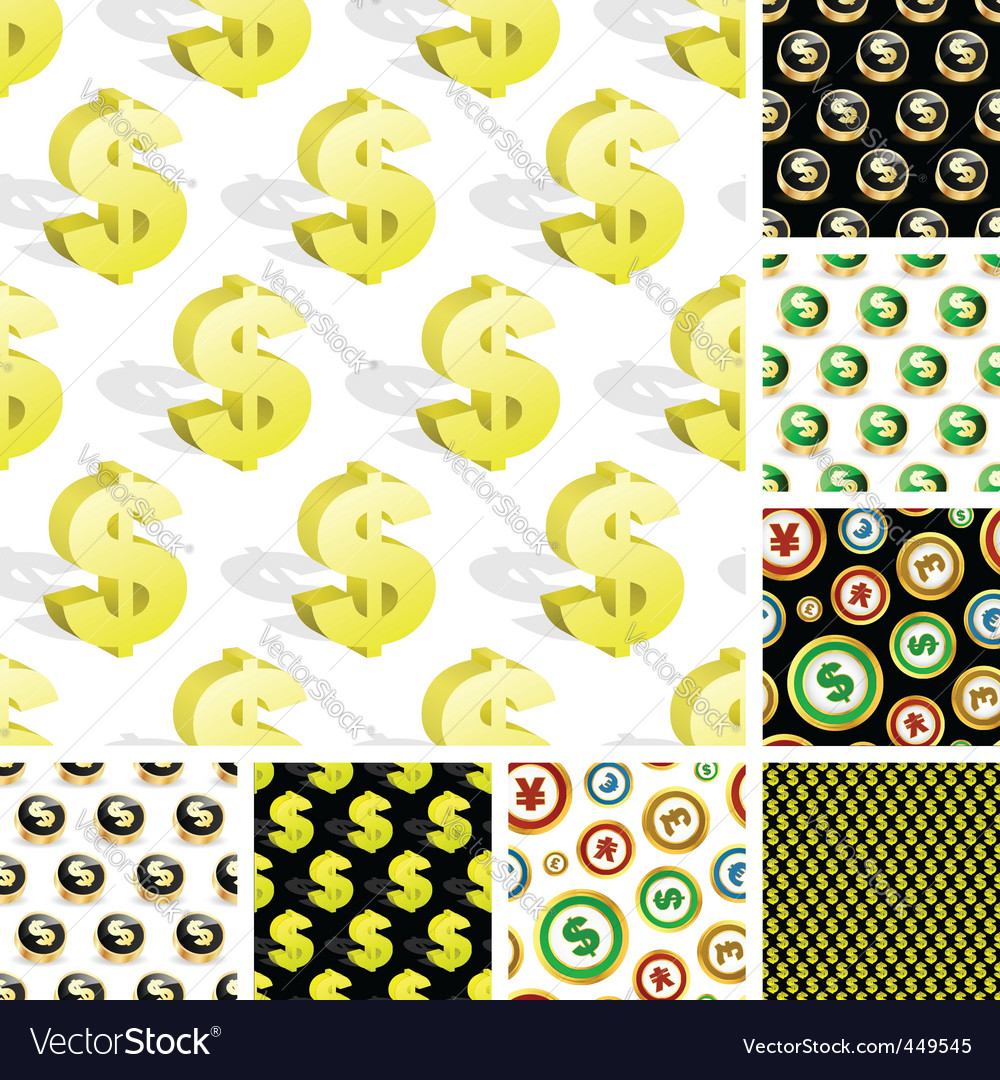 Dollar seamless pattern