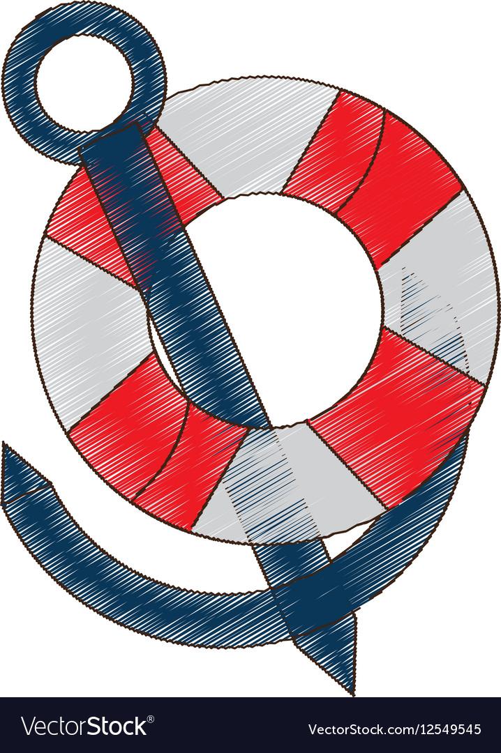 Drawing buoy anchor nautical travel maritime