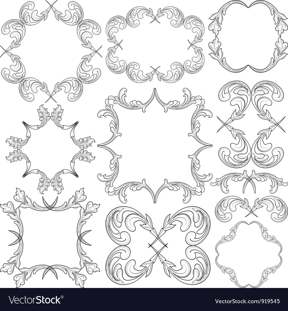 Frame ornaments Royalty Free Vector Image - VectorStock