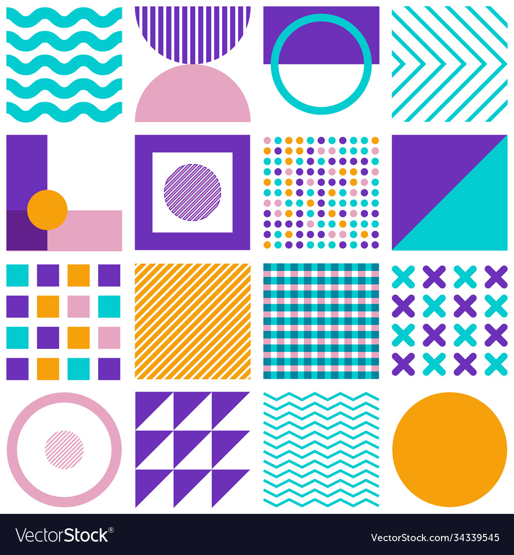 Geometric simple shapes minimal seamless pattern
