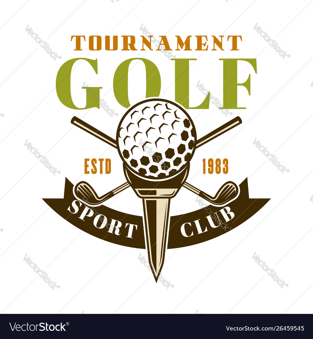 Golf tournament emblem label badge logo