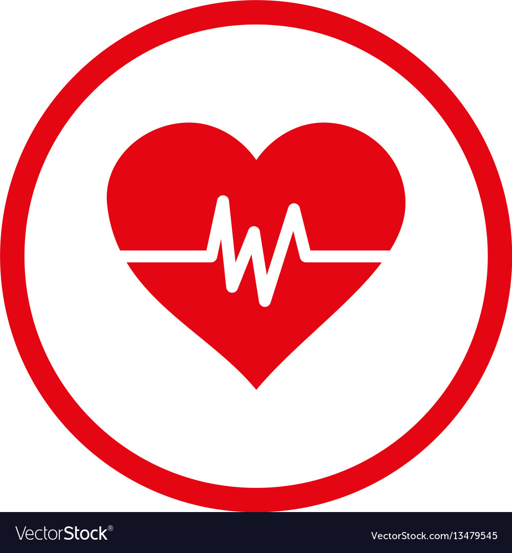 Heart pulse rounded icon
