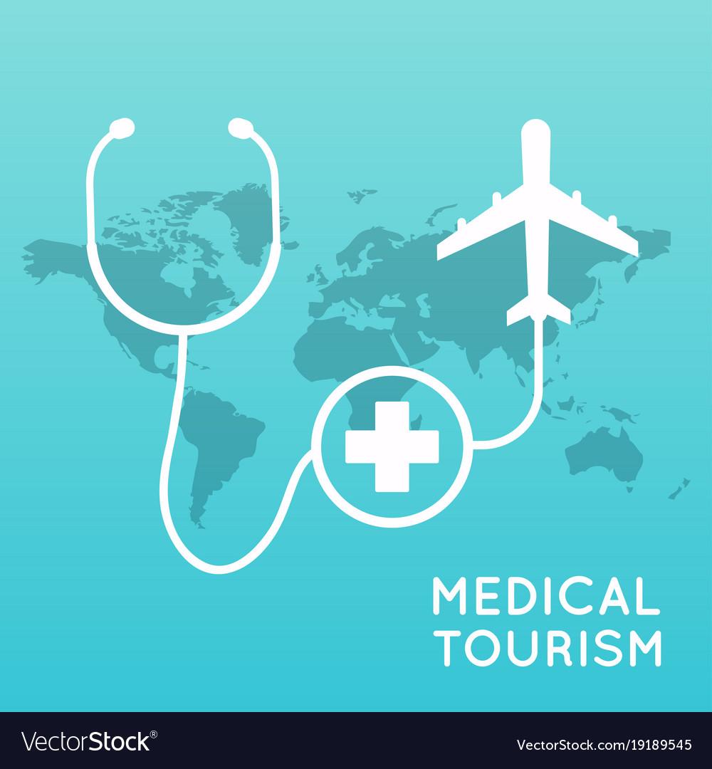 Medical tourism flat design modern