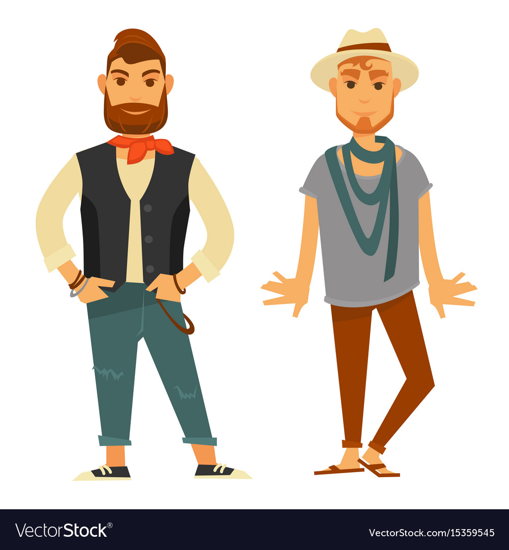 Modern stylish men in fashionable clothes isolated