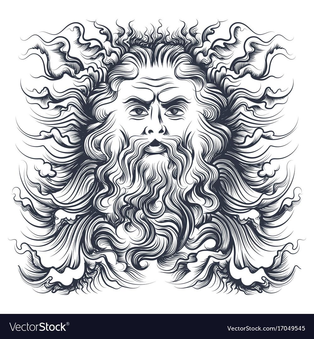 Neptune head