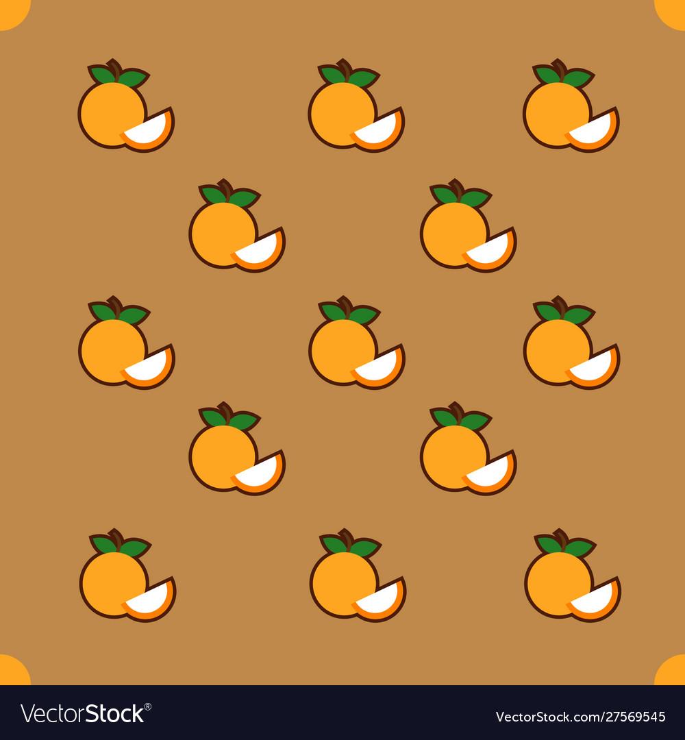 Orange pattern on brown background