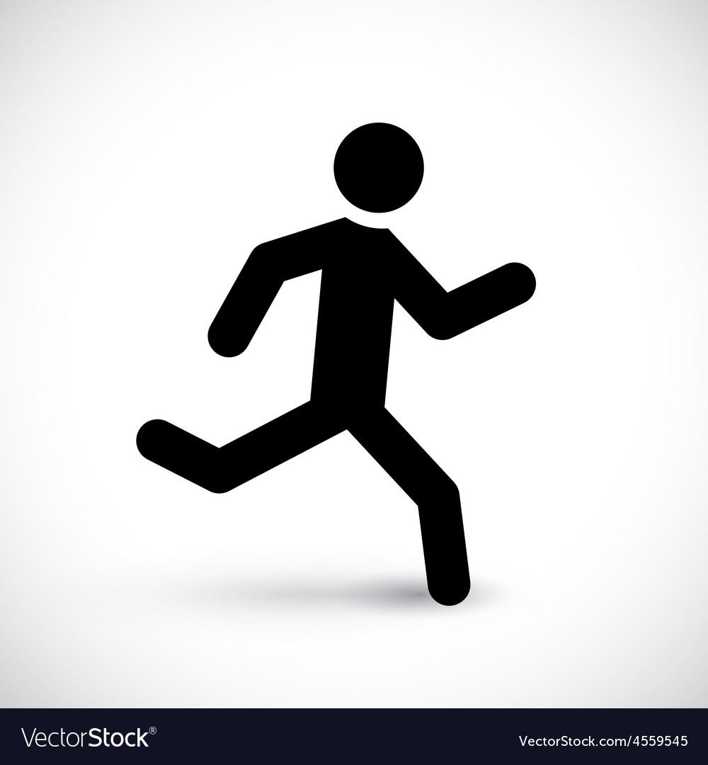 Running stick man
