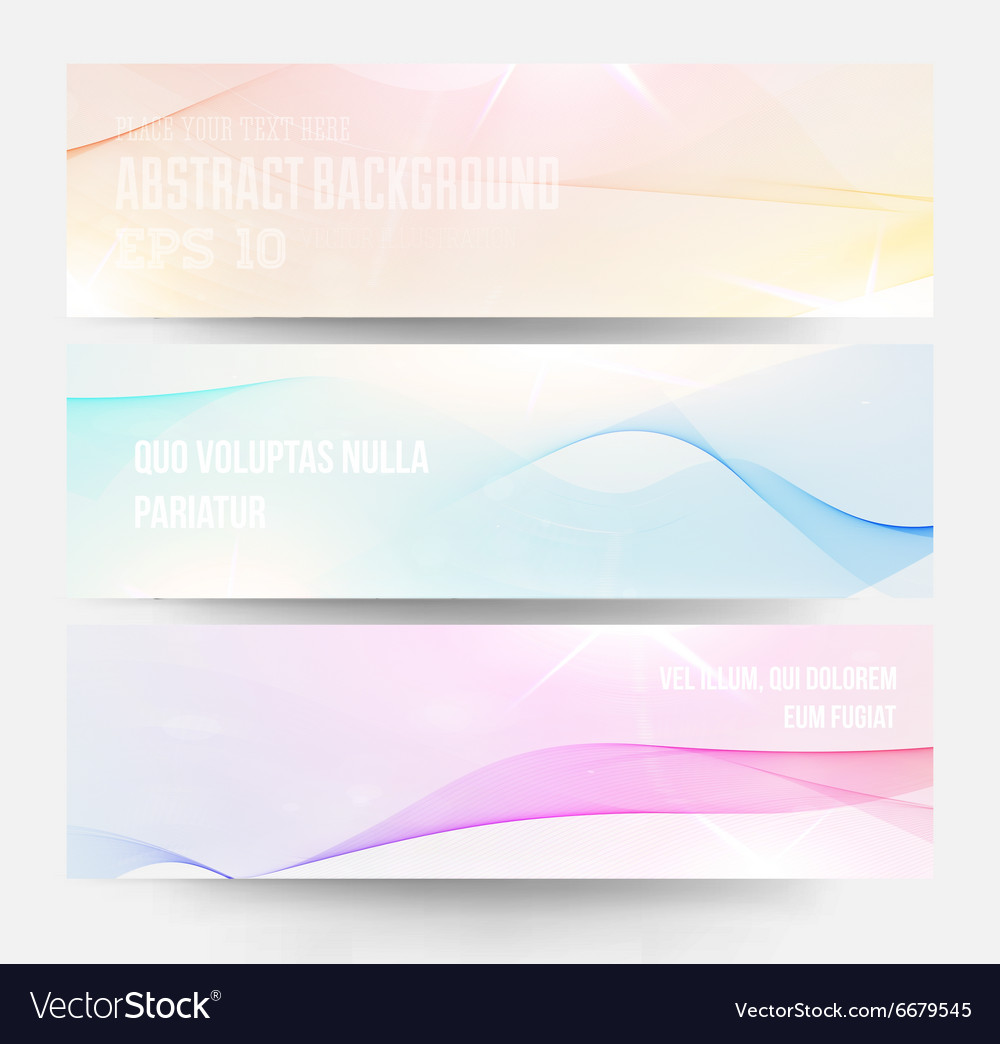 Watercolor Banner Set vector image