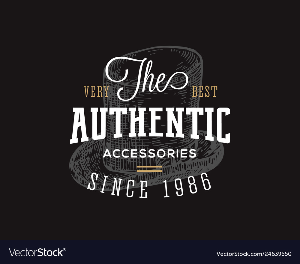Authentic accessories store retro typography