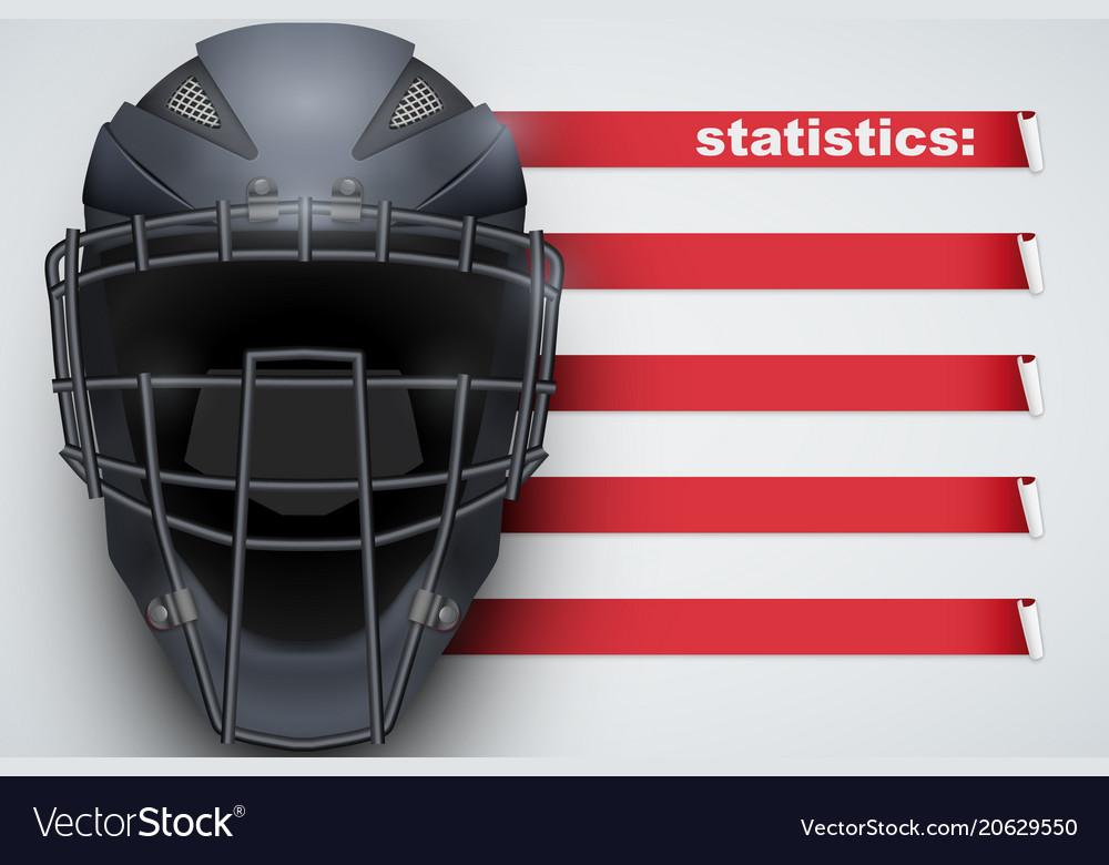 Background of baseball statistics vector image