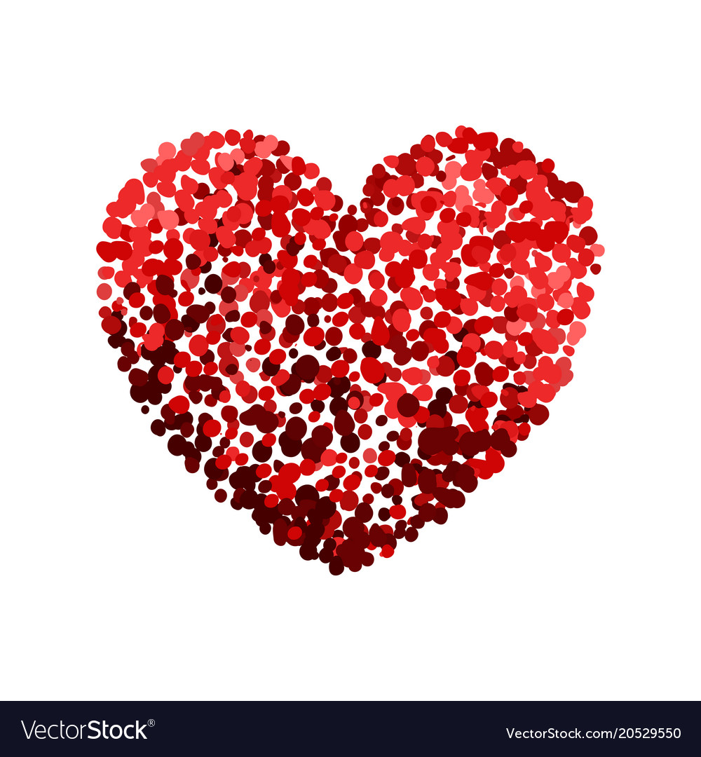 Colorful of red heart