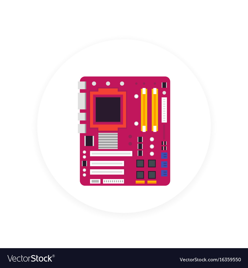 Motherboard icon vector image