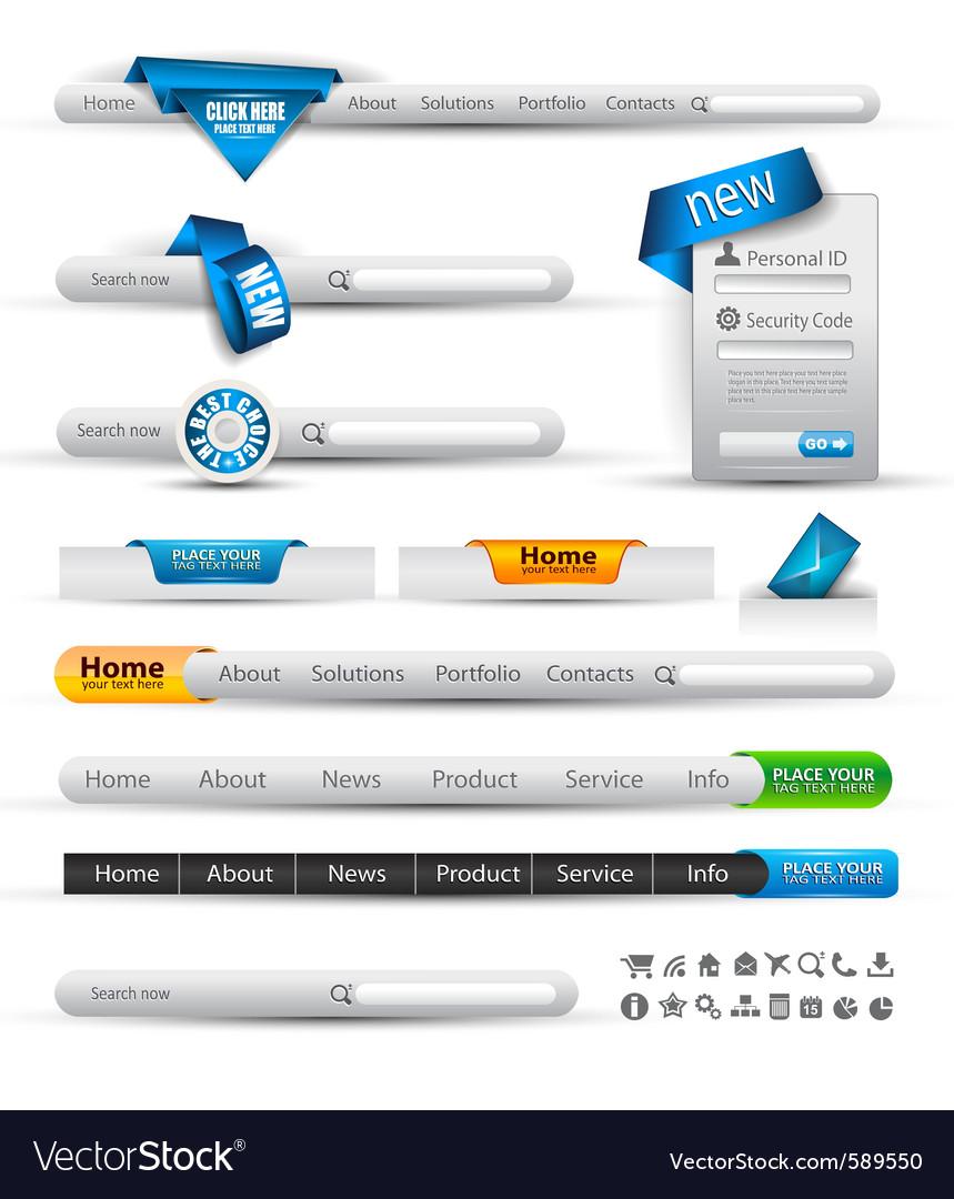 Website menus