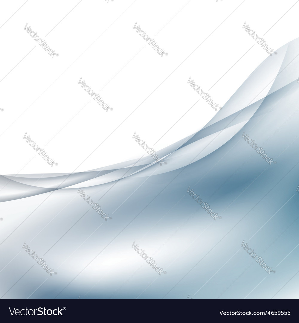 abstract satin swoosh wave border card template vector image