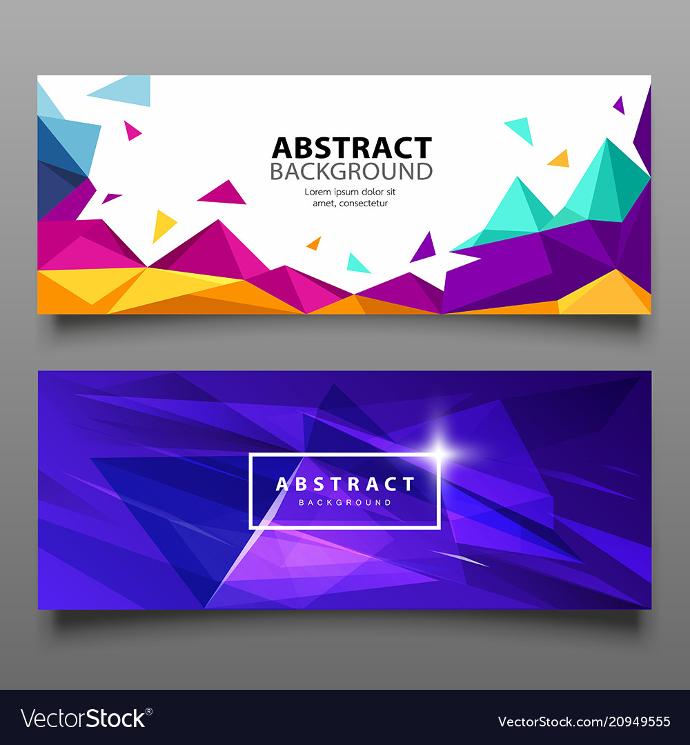 Banners triangle geometric abstract set